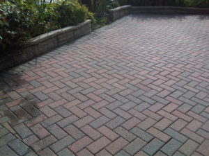 Picture of a block paved driveway